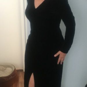 Full length velour dress worn once
